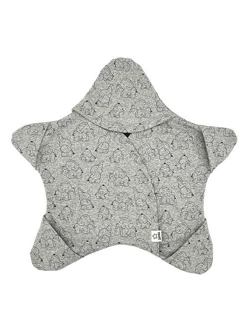 Grau mit Baby-Elefäntchen