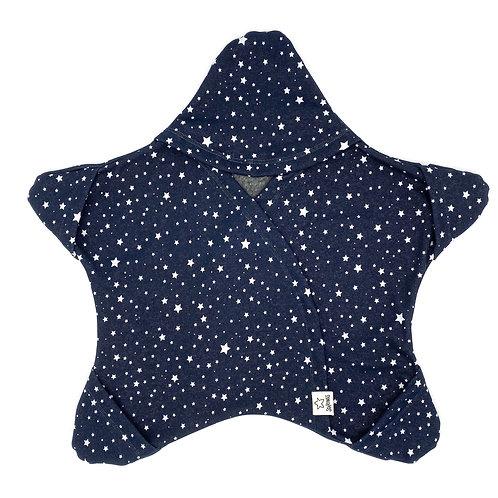 Dunkelblau mit Sternchen