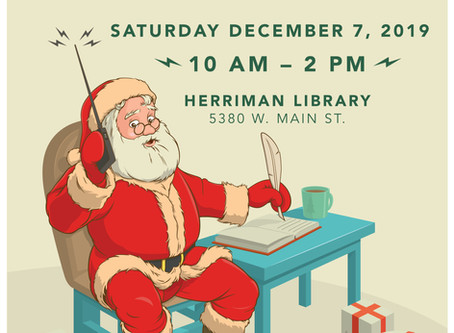 Talk to Santa Program this Saturday!