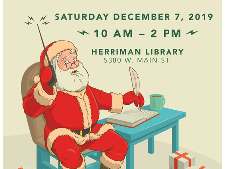 Talk to Santa Program this Saturday!