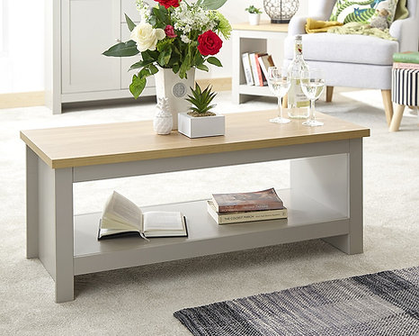LANCASTER Coffee Table with Shelf