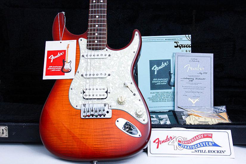 """FENDER USA Custom Shop Contemporary Stratocaster """"Cherry Burst + Rosewood"""" (1995"""