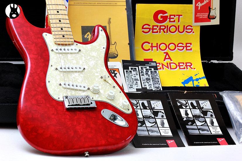 "FENDER USA Stratocaster LTD MOTO Custom Shop ""Ruby Red + Maple"" (1995)"