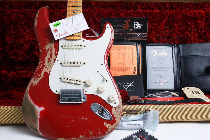 "FENDER USA Custom Shop 1956 Heavy Relic Stratocaster ""Dakota Red + Maple"" (2020)"