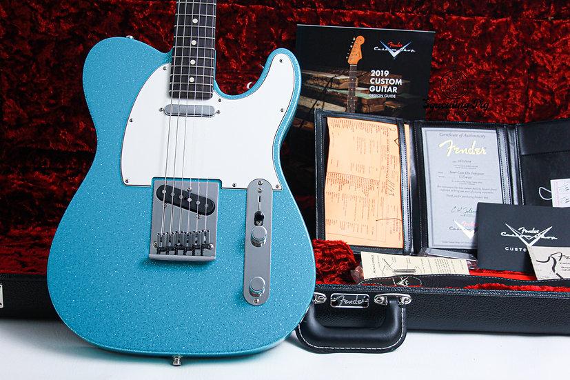 "FENDER USA Custom Shop Super Custom Deluxe NAMM NOS ""TAOS Turquoise Sparkle + Ro"