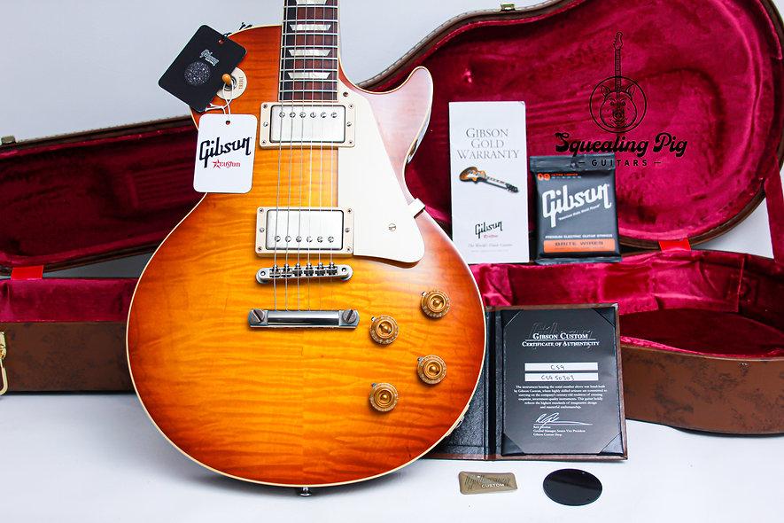 """GIBSON USA Custom Shop Les Paul CS9 50's Style VOS R9 """"Iced Tea burst + Rosewood"""
