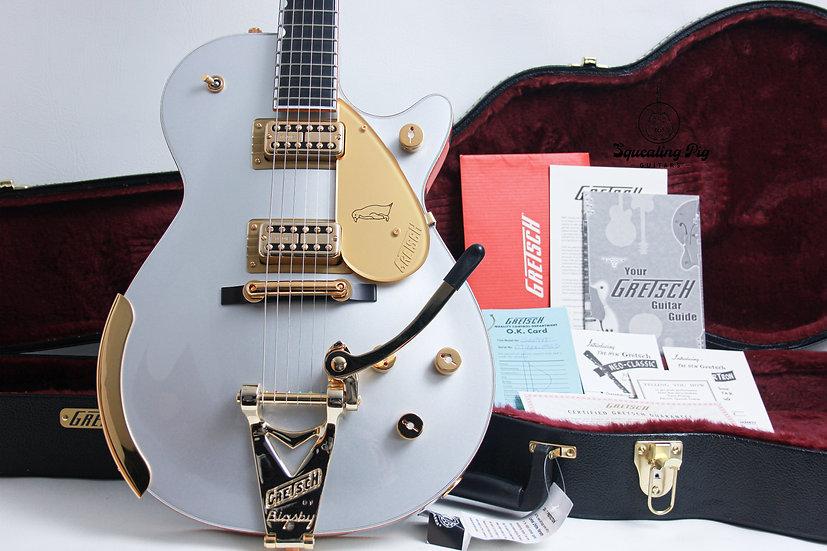 """GRETSCH MIJ LTD G6134T Limited Edition Penguin Bigsby """" Firemist Silver + Ebony"""""""