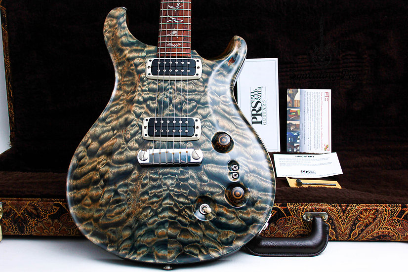 """PRS USA Paul Reed Smith Paul's AAA+ Quilt """"Faded Blue Jean + Rosewood"""" (2013)"""