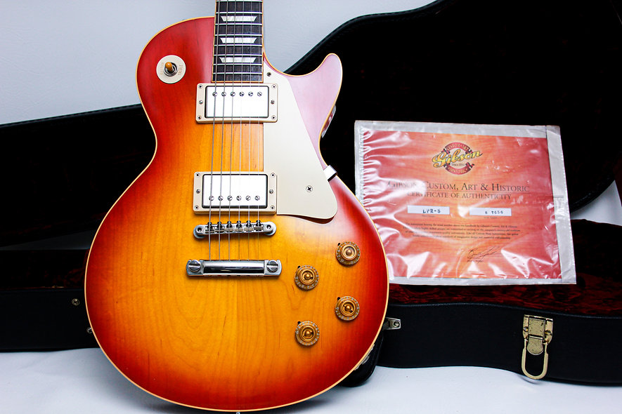 "GIBSON USA Les Paul Custom Shop Historic 1958 R8 VOS ""Washed Cherry Burst 2007"