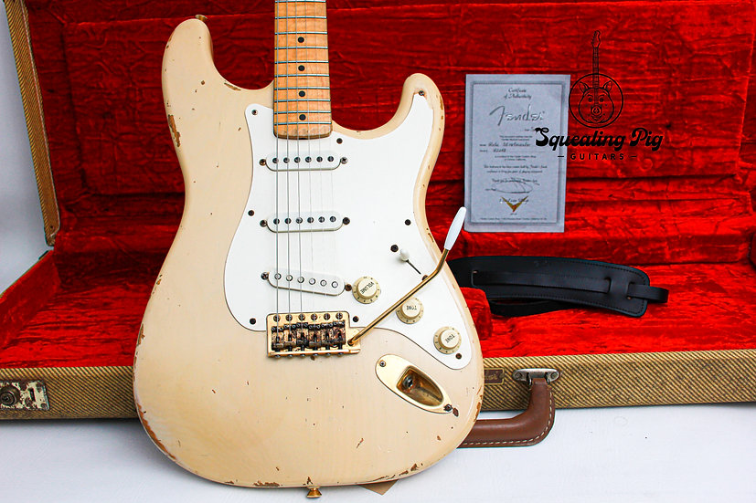 """FENDER USA Custom Shop Cunetto 1957 Relic Strat """"Mary Kaye + Maple"""" (1996)"""