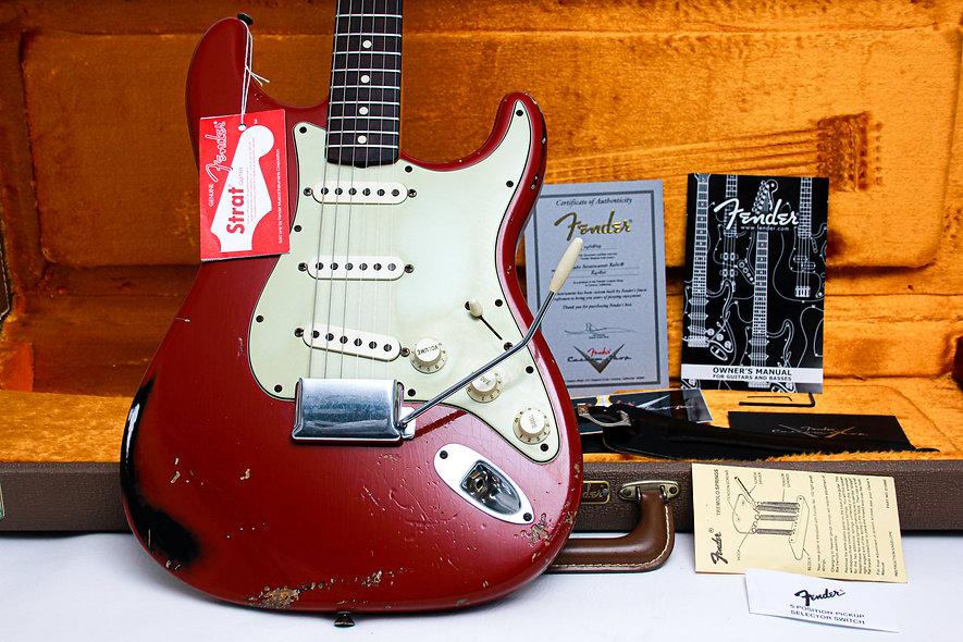 "FENDER USA Custom Shop Strat 1960's Relic S/O ""Dakota Red + Rosewood"" (2009)"