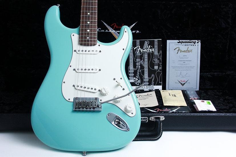 "FENDER USA Custom Shop Stratocaster Deluxe NOS ""Daphne Blue + Rosewood"" (2013)"