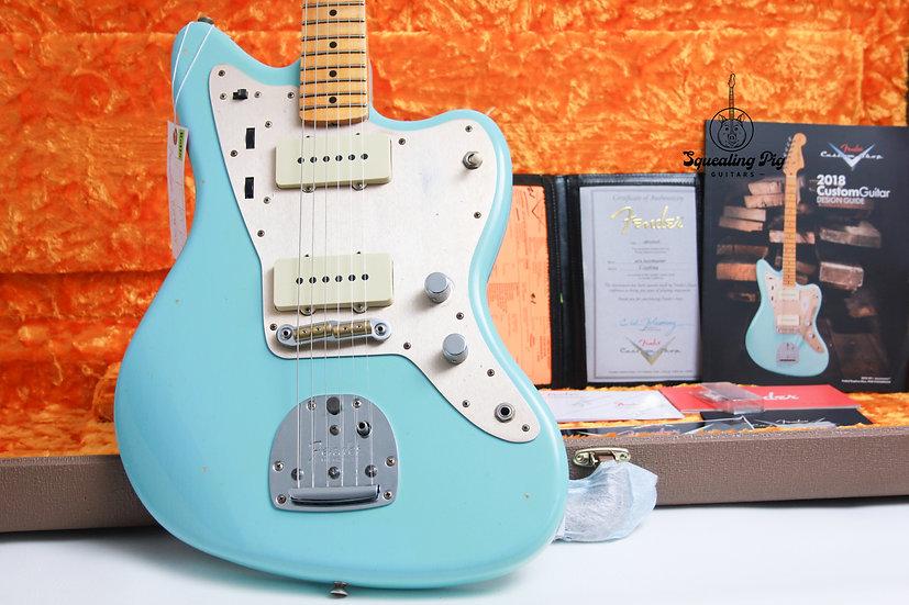 "FENDER USA Custom Shop 50's Journeyman Relic Jazzmaster ""Daphne Blue + Maple"""