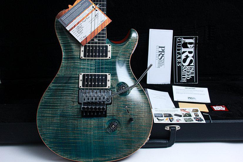 "PRS Paul Reed Smith USA Floyd Rose Custom 24 ""Aqua-bleux + Ebony"" (2014)"
