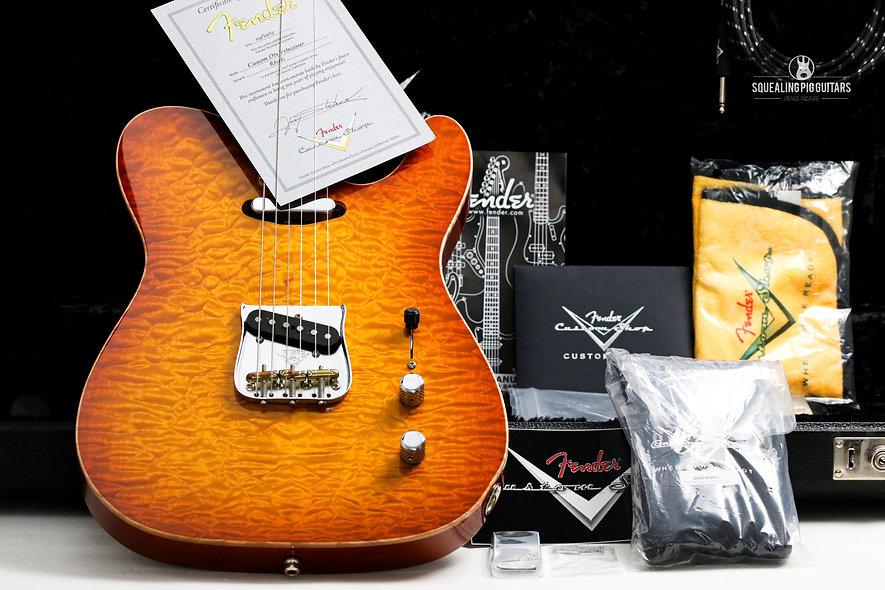 "FENDER USA Masterbuilt Yuriy Shishkov Telecaster Deluxe ""Honeyburst + Maple"" (20"