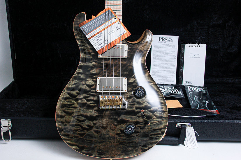 "PRS USA Paul Reed Smith Wood Library Swamp Ash Custom 22 ""Obsidian + Maple"""