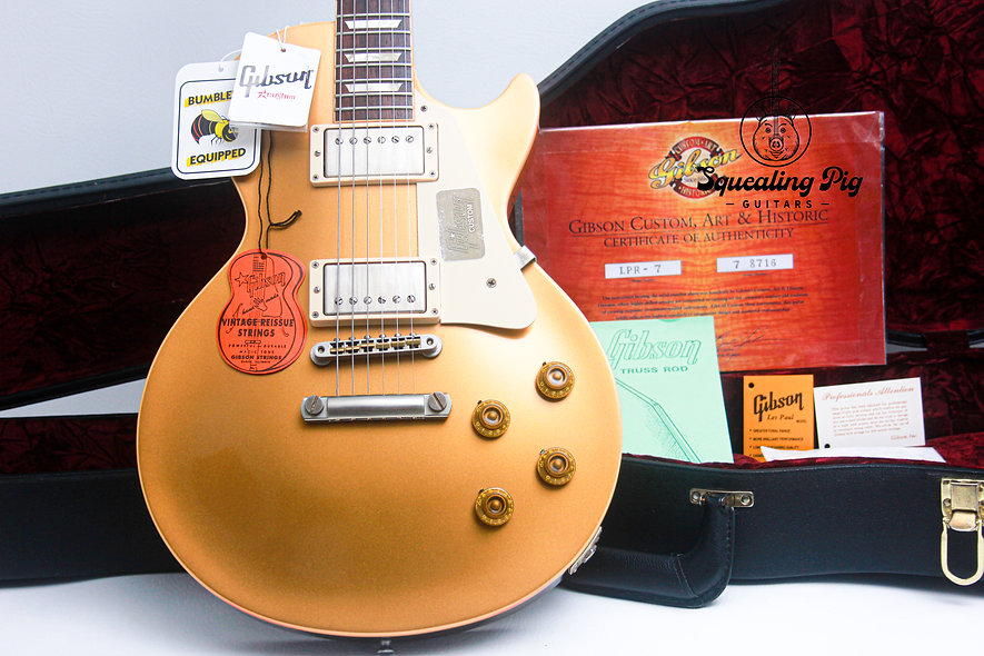 "GIBSON USA Les Paul Custom Shop 1957 Darkback VOS Reissue ""Gold Top + Rosewood"""