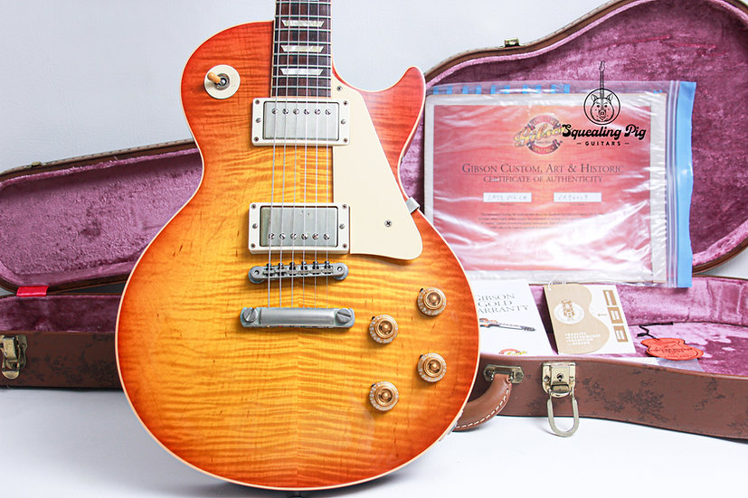 "GIBSON USA Custom Shop Les Paul R9 Chambered Reissue 'Cloud 9' ""Sunburst + Rosew"