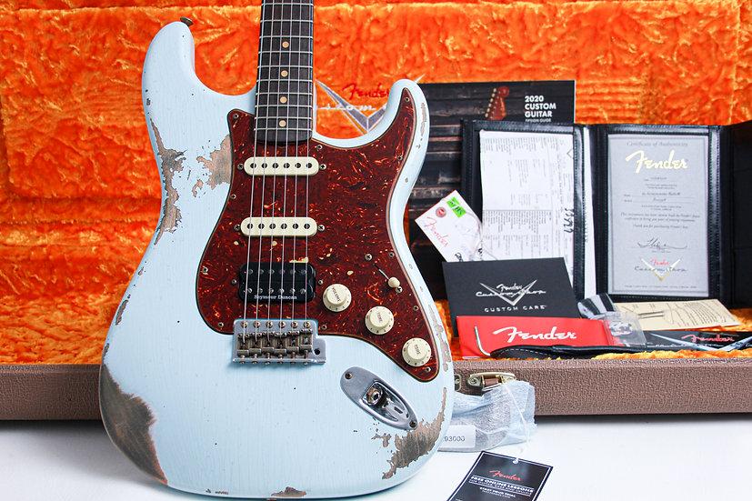 "FENDER USA Custom Shop 1962 Heavy Relic HSS Stratocaster ""Sonic Blue + Maple"""