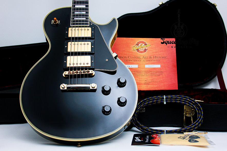 "GIBSON USA Custom Shop Les Paul '57 Reissue ""Black Beauty + Ebony"" (2002)"