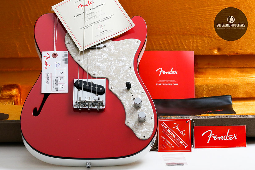 "FENDER USA Vintage Two-Tone LTD Telecaster ""Fiesta Red + Ebony"" (2019)."