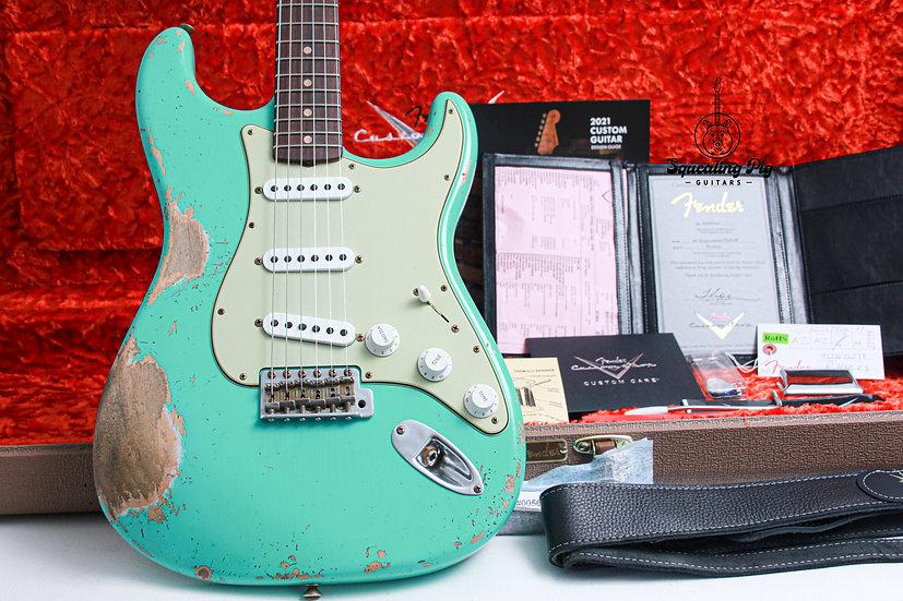 "FENDER USA Custom Shop 1962 Stratocaster Heavy Relic ""Seafoam Green + Rosewood"""