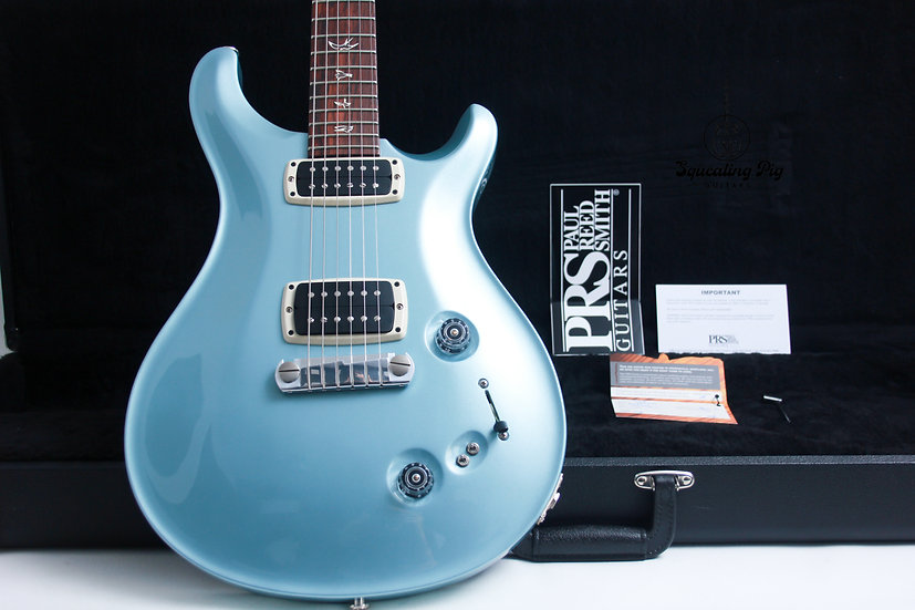"""PRS USA Paul Reed Smith 408 Standard """"Frost Blue Metallic + Rosewood"""" (2012)"""