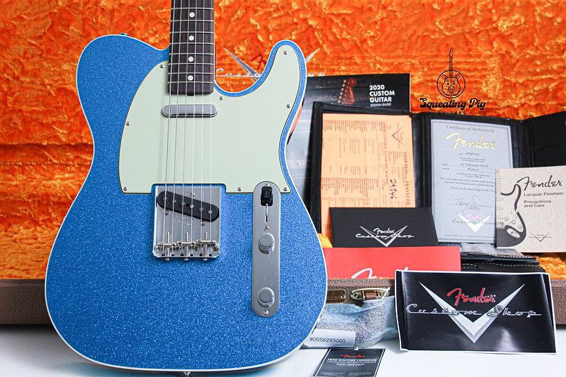 "FENDER USA Custom Shop 1960's NOS Telecaster Custom LTD ""Blue Sparkle + Rosewood"