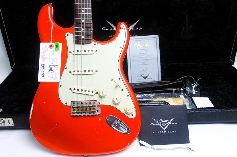 "FENDER USA Custom Shop LTD 64 Strat Relic ""Candy Tangerine + Rosewood"" (2009)"