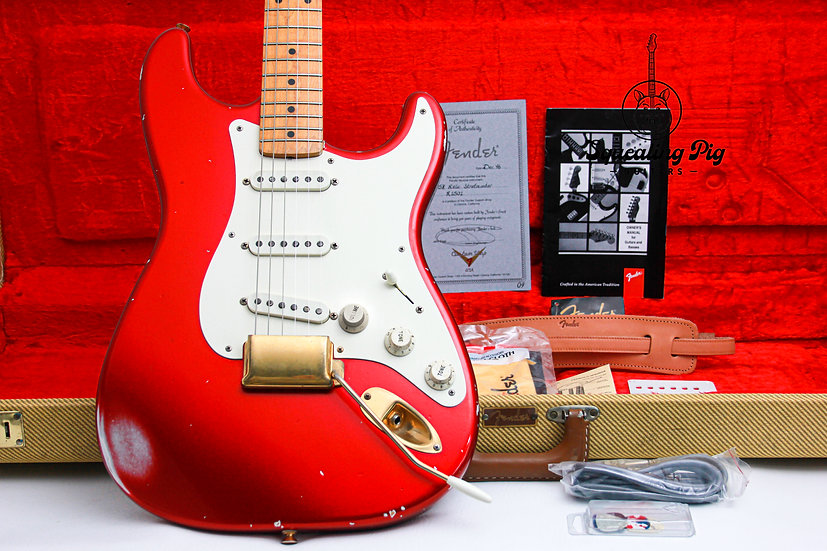 """FENDER USA Custom Shop Cunetto 1958 Relic Strat """"Candy Apple Red + Maple"""" (1996)"""