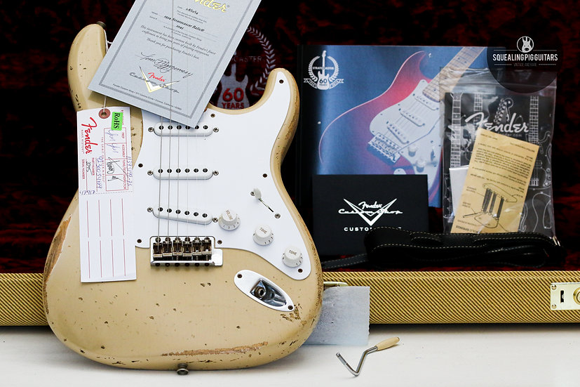 "FENDER USA Custom Shop 60th Anns 1954 Stratocaster Relic ""Blonde + Maple"" (2014)"