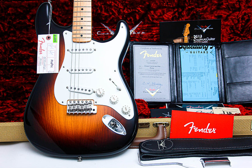"FENDER USA Custom Shop LTD 1955 Stratocaster NOS ""Two Tone Burst + Maple"" (2018)"