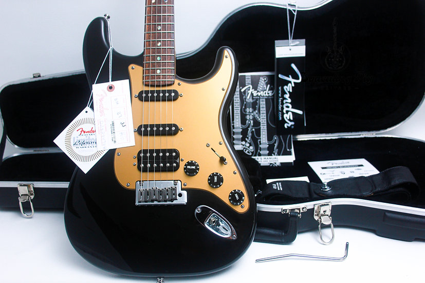 "FENDER USA Deluxe LTD Stratocaster S1 ""Montego Black + Maple"" (2008)"