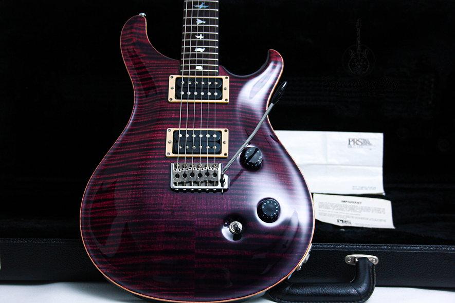 "PRS Paul Reed Smith USA Custom 24 Ten Top ""Raspberry + Rosewood"" (1994)"