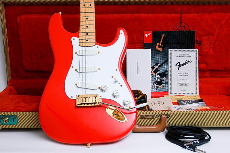 "FENDER USA Custom Shop Stratocaster Hank Marvin Prototype 1# OF 20 ""Fiesta Red +"