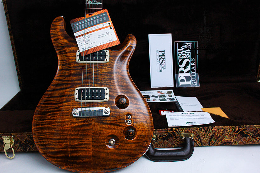 """PRS USA Paul Reed Smith Paul's AAA+ Quilt """"Copper + Rosewood"""" (2013)."""
