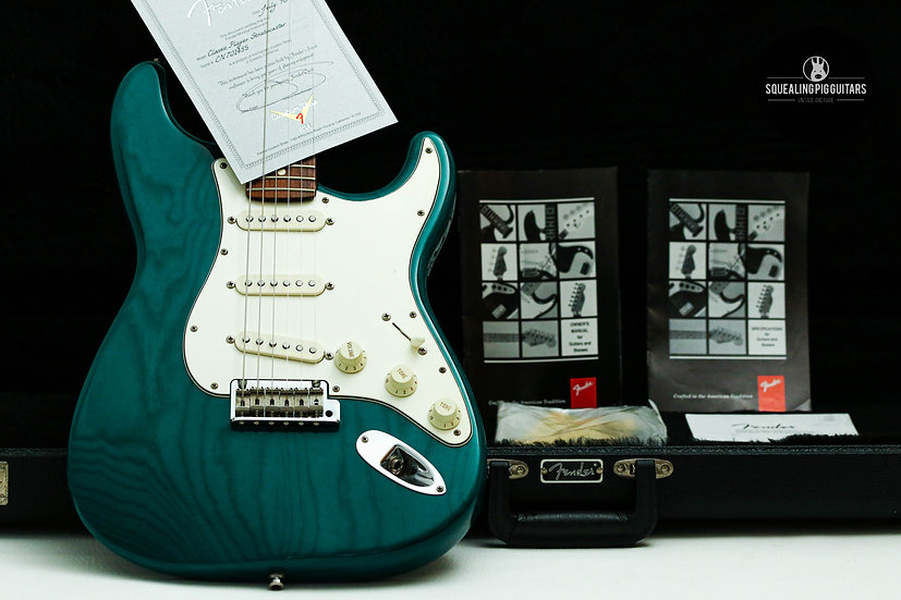 "FENDER USA Custom Shop Classic Player Stratocaster ""Trans Teal Green + Rosewood"""
