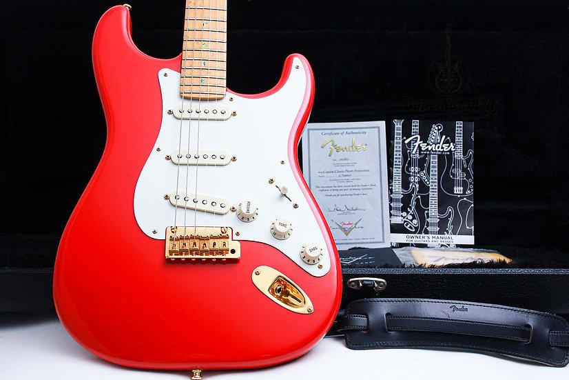 "FENDER USA Custom Shop Classic Player Stratocaster ""Fiesta Red + Maple"" (2003)."