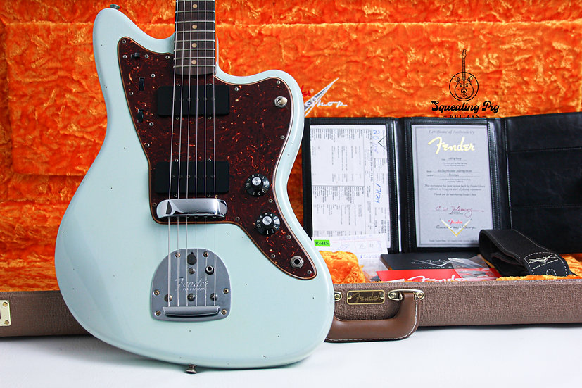 """FENDER USA Custom Shop """"Chicago Exchange Special"""" 1962 Relic """"Sonic Blue + Rosew"""