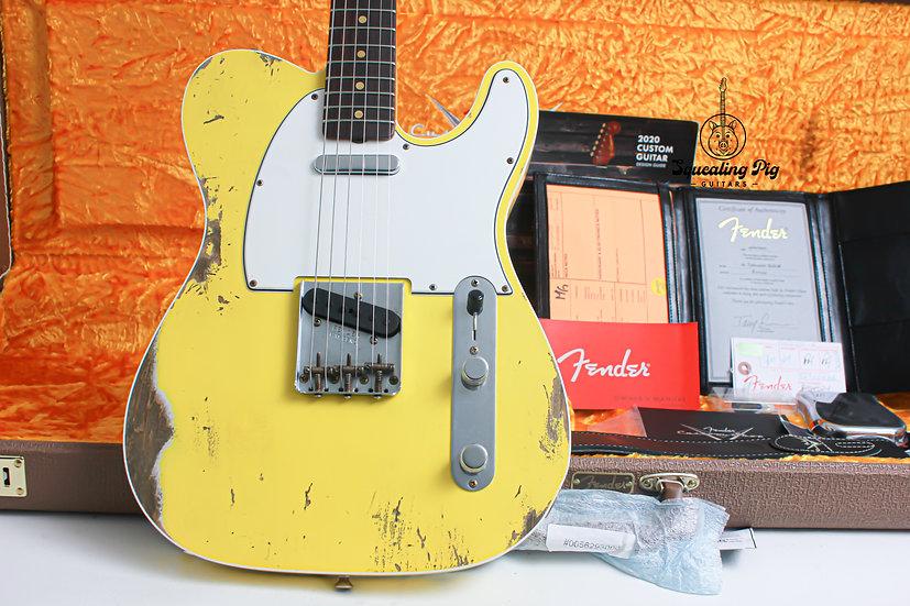 "FENDER USA Custom Shop Custom Telecaster 1960's Heavy Relic ""Graffiti Yellow + R"