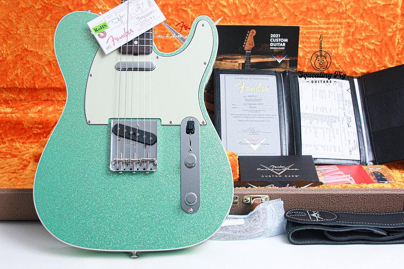 FENDER USA Custom Shop 1960's NOS Telecaster Custom LTD- Seafoam Green Sparkle