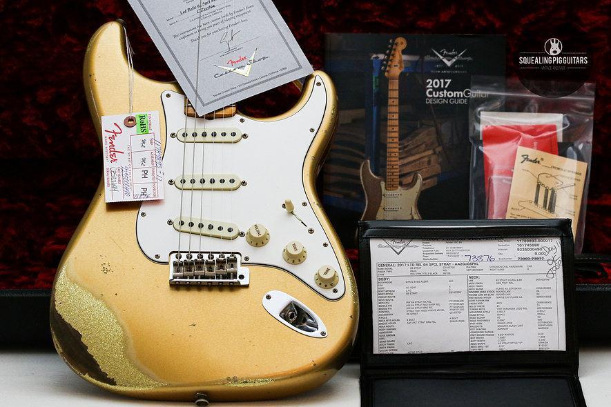 "FENDER USA Custom Shop LTD 64 Special Strat Relic ""Gold Sparkle + Maple"" (2017)"