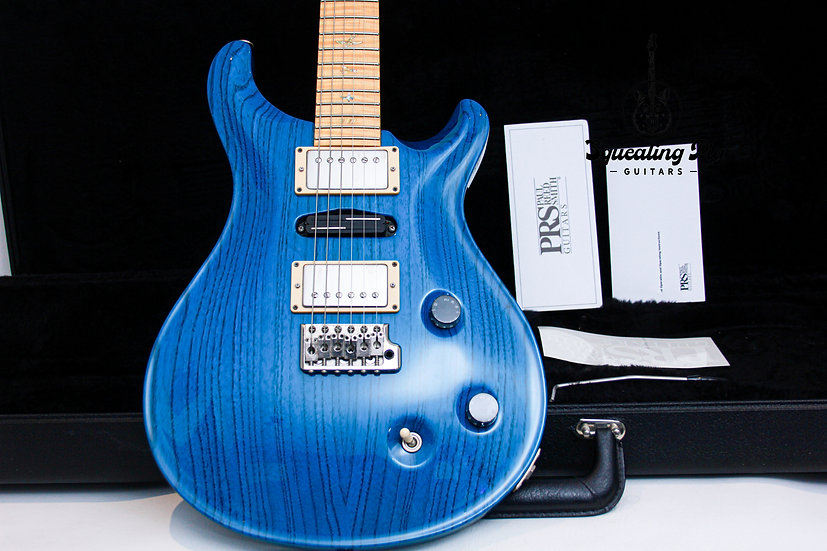 "PRS USA Paul Reed Smith 20th Swamp Ash Special 22 ""Trans Blue + Flamed Maple"" (2"