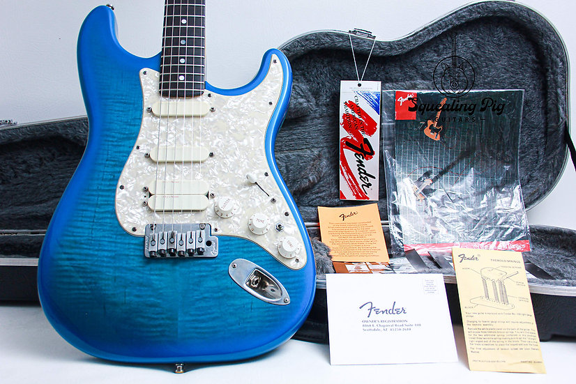 "FENDER USA Plus Ultra Stratocaster ""BlueBurst + Ebony"" (1993)"