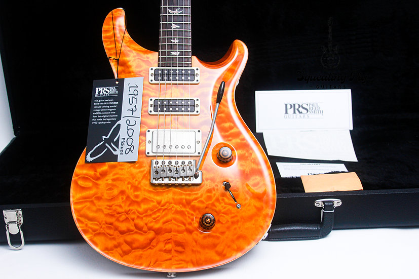 """PRS USA Paul Reed Smith Studio 10-Top 57/08 """"Vintage Yellow + Rosewood"""" (2011)"""