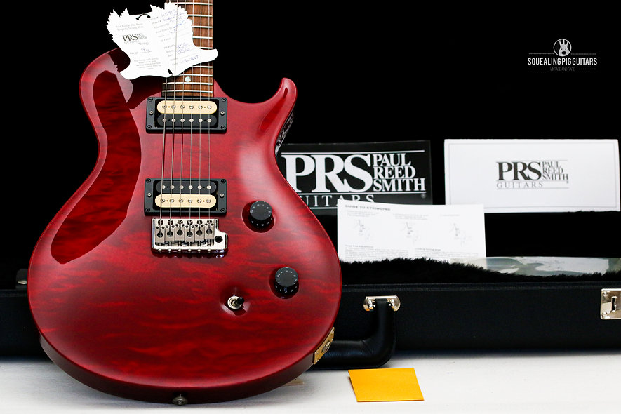 "PRS Paul Reed Smith USA Single-cut - Tremolo ""Black Cherry + Rosewood"" (2007)"