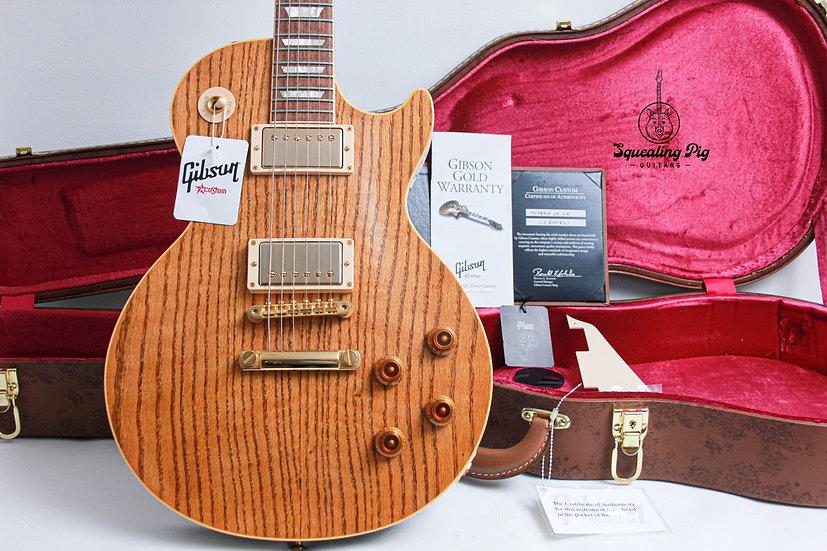"""GIBSON USA Custom Shop Modern Les Paul Class 5 """"Oak/Walnut + Rosewood"""" (2018)"""