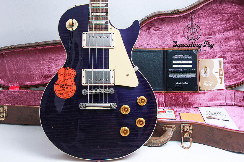 """GIBSON USA Les Paul Custom Shop M2M R7 """"Aged"""" 1957 """"Candy Blue + Rosewood"""" 2019"""