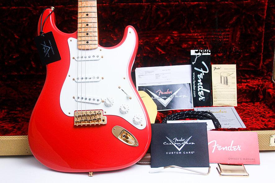 """FENDER USA Masterbuilt Greg Fessler 59 Stratocaster NOS """"Fiesta Red + Birds-eye"""
