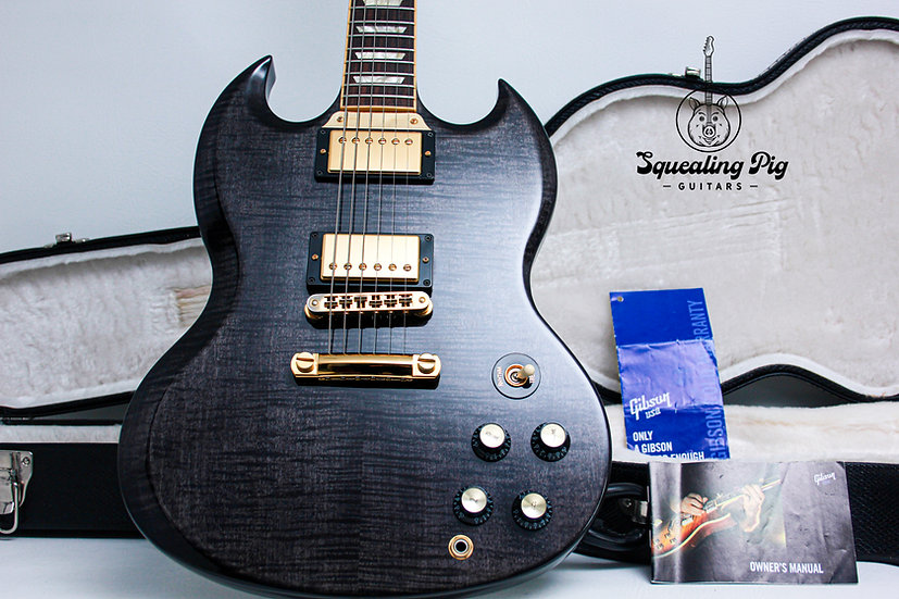 "GIBSON USA SG Select AAA+ LTD 1/200 ""Trans Ebony + Rosewood"" (2007)"